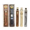Brass Knuckles Preheat Battery 650mah 900mah Golden Wood Preheating Batteries VV Vape Pen 510 Thread for Connected Abracadabra EC008