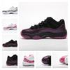 New Mens 11s basketball shoes Low Pink Snakeskin Purple Black Top quality women Athletic Trainers Sports Shoes Designer Sneakers with box