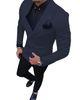 Veste marine + pantalon noir