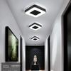 Diameter 240mm Modern LED Chandelier For Holly aisle corridor Bedroom Black or White Square Round Triangle led Chandelier
