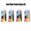 Twist Mode Battery Preheat VV Battery 650mAh Vertex Preheat Battery Variable Voltage 510 Thread Fit Vaporizer 1.0 0.5ml E-cigarettes Kit