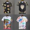 HOT Brand letter D Mens O-neck T ShirtsHuman head Hip Hop printing Shantou Short sleeve Crystal sequins Shirts Fashion Womens Shorts