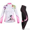 Women's Cycling Running Long Sleeve Jersey+Pants Suit Outdoor Sports Wear Breathable Clothing Flower Fairy Camping Hiking Motorcycle Su