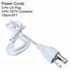 150CM 3PIN nos cabos de alimentação sem interruptor