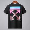 19ss MULTICOLOR ARROWS men T SHIRT off Short sleeves T-Shirt Temperature rear striped prints mens tops White women tee shirts 21