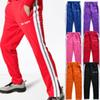 Palm Angels Track Pants Men Women Fashion Stripe Side Casual Pants Black Purple Ankle Zipper Jogger Pants Hip Hop Trousers