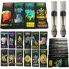 Hologram 3D Black Dank Vapes Packaging 0.8ml Oil Empty Vape Carts M6T 1ml Ceramic Cartridges Dab Pen Wax Vaporizer Atomizer 510 Battery