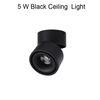 5 W الأسود ضوء السقف