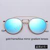 4o ouro / gradiente de espelho azul