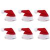6 Pcs lot Mini Santa Claus Hat Christmas Xmas Holiday Lollipop Top Topper Decor Hot Selling