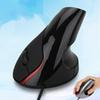 5th-Gen Wired Vertical Mouse Ergonomic LED Backlit Light 3200DPI Wrist Rest Protect Game Mice With Mouse Pad Kit For Computer 2th Mouse A