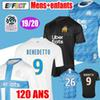 2019 Olympique de Marseille BENEDETTO Soccer Jersey 2020 Maillot De Foot PAYET 120 years THAUVIN 19 20 OM Home enfant Kids Football shirts