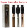 Brass Knuckles Battery 650mAh Good 900mAh Wood SS Vape Pen Preheat VV Variable Voltage 510 Battery For 510 Kingpen Thick Oil Cartridge Tank