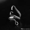 2017 New Men's Jewelry Zinc Alloy Punk Style Squid Octopus Retro Ring Animal Opened Adjustable Finger Ring for Man