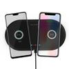 2 in 1 Dual QI Wireless Charger Base Fast Charging Pad Quick Charge Phone Charger For iPhone X XS Samsung S9 S8 Edge Note9 Huawei P20 P30