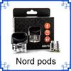 2019 Nord Pod with 0.6ohm mesh 1.4ohm regular coils fit nord 1100mAh Battery Electronic Cartridge Atomizer Cigarette Vape kit 0266270