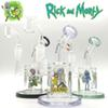 Hot sale glass bong oil rig Rick & Morty water bongs heady glass bongs female 14mm dab rigs with 4mm thickness quartz banger