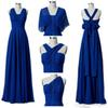 Convertible Chiffon Bridesmaid Dresses 2020 Cheap A Line Garden Beach Boho Wedding Guest Dress Floor Length BM0196 Custom