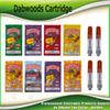 Dabwoods Vape Cartridge Carts Package 0.8ml 1.0ml Ceramic Coil Wood Flat Tip Tank 510 Thread Thick Oil Atomizer Bags Box