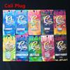 Holographic Cali Plug Carts Rainbow Ziplock Packaging Bags 10 FlavorsWith Child Proof For Cali Plug Vape Cartridges