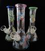 New glass bong beaker bongs water pipe oil rigs water pipes glass bubbler Rick And Morty mini glass water pipe with 14mm bowl