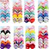 "48 color 5"" JOJO hair Bow girl colorful print Barrettes Girl Hair Accessories Rainbow Unicorn kids Unicorn party hair clipper"