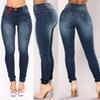 Jeans High Elastic Plus Size Stretch Female Knee Length Denim Skinny Pencil Pants High Female Sexy Pencil Pants 2019 Woman
