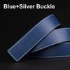 Boucle bleu + argent
