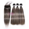 Ombre Human Hair Bundles with Lace Closure Remy Ombre Piano Color Human Hair Weave F-T1b 27 Brazilian Virgin Bundles Hair with 4x4 Closure