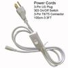 3.3Ft 3Pin Power Cords With Switch
