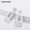 LUNA CHIAO 2019 Spring Summer New Trendy Rubber Coating Metal Statement Earring Big Hyperbole Colored Women Earrings Jewelry