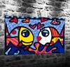 Romero Britto Pintura Do,HD Canvas Printing New Home Decoration Art Painting (Unframed Framed)