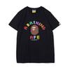 Bape Mens T Shirt Fashion Mens Designer Short Sleeves A Bathing Ape High Quality Cotton T Shirt Tees Size M-XL