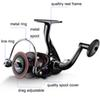 wholesale quality Metal Fishing reel spinning metal spool fishing coil 12BB 5.2:1 spinning reel for carp fishing