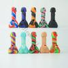 New Product 7.28 inch Silicone Penis Dick Pipe With Glass Bowl Oil Rigs Glass Water Pipes Silicone bong Smoking Hookahs Free DHL