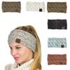 21 Color Big Girls Hairband Colorful Knitted Crochet Twist Headband Winter Ear Warmer Elastic Hair Band Wide Hair Accessories C1354