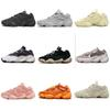 [with box]2019 og High Quality yeezy yeezys yezzy yezzys 500 boost Kanye West static 3M material Blush super moon yellow utility black Deser