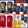 12 Ja Morant NCAA jersey Murray State Racers University of Maryland 34 Len Bias Indiana State Larry 33 Bird 35 Texas Tech Durant Anthony