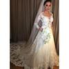Sexy Long Sleeve Wedding Dresses 2019 New Jewel Neck Sweep Strain Lace Applique Illusion Formal Wedding Gowns Bridal Dress