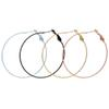 Big Earrings New Trendy Stainless Steel 18K Real Gold Plated Fashion Jewelry Round Large Size Hoop Earrings for Women