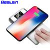 Bestsin Qi Qi Wireless Charger Iphone Dual Usb 10000mah Power Bank Super Fast Charge For Iphone XSMAX