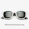 956 Beyaz siyah kare yeşil lensler