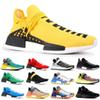2019 NMD Human Race Mens Running Shoes With Box Pharrell Williams Sample Yellow Core Black Sport Designer Shoes Women Sneakers 36-45