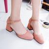 Spring Summer Women Ankle Strap Pumps Mary Janes Woman Shoes Square Toe Dress Shoes Square Toe Medium Heel Zapatos Mujer 6282