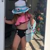 Children Swimwear baby girls Fabala One Soulder Off Top+Buttons Shorts 2pcs Two-Piece Set 2019 INS New Summer Bikini Kids Swimsuit