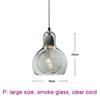 large, smoke glass, clear cord