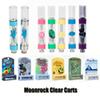 Moonrock Clear Carts Razzle Dazzle Silverback Vape Cartridges 0.8ml 1.0ml Tank Ceramic Coil Thick Oil Atomizer Blue Moon Rock 510 Vaporizer