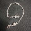 clear quartz crystal beads chain
