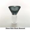 18 мм мужской черный бриллиант