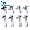 POIQIHY 8 style chrome basin faucet waterfall faucet mixer tap hot and cold water single handle single hole deck mounted